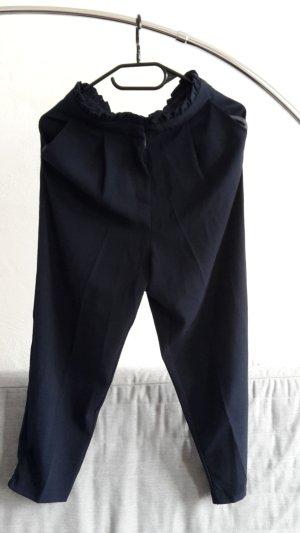 Asos Petite Pantalón de cintura alta azul oscuro-azul