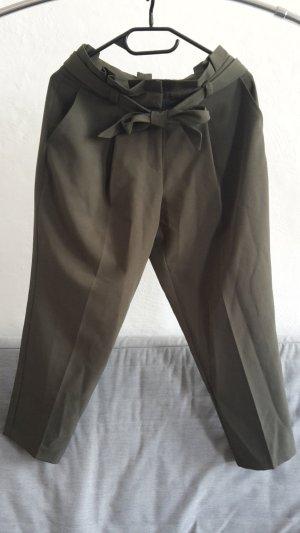 New Look Petite Peg Top Trousers dark green-khaki