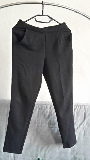 Asos Petite Hoge taille broek zwart