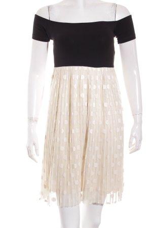 Asos Petite Kleid schwarz-creme Punktemuster Elegant