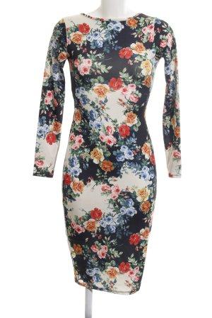Asos Petite Longsleeve Dress flower pattern elegant