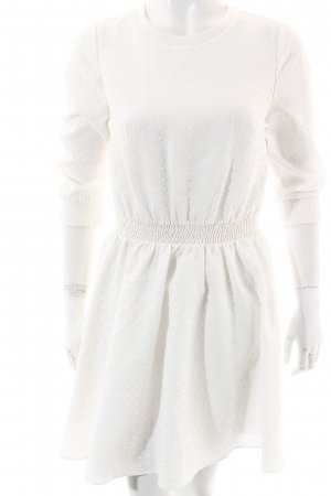 Asos Petite Jurk met lange mouwen wit grafisch patroon extravagante stijl
