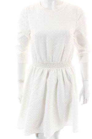 Asos Petite Langarmkleid weiß grafisches Muster extravaganter Stil