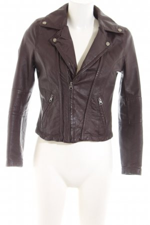 Asos Petite Leather Jacket brown business style