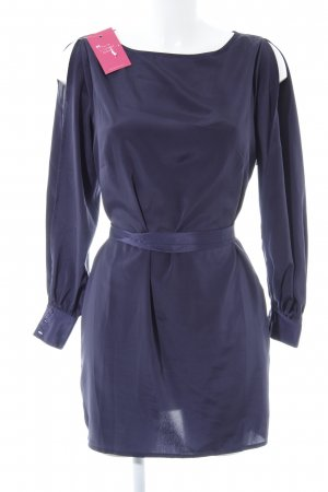 Asos Petite Long-Bluse dunkelblau Casual-Look