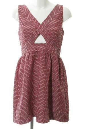 Asos Petite Minikleid magenta-rosa Punktemuster Elegant