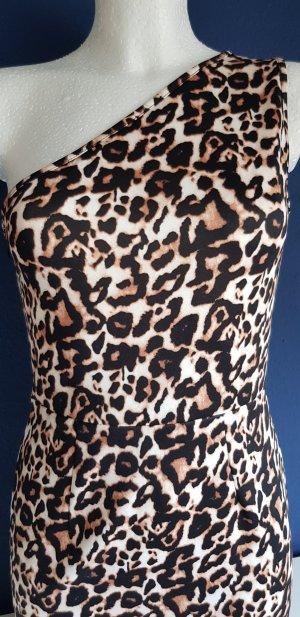 Asos Petite Vestido de un hombro multicolor tejido mezclado