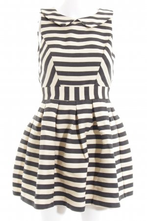Asos Petite Polo Dress black-natural white striped pattern elegant