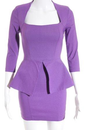 Asos Petite Peplum jurk lila feest stijl