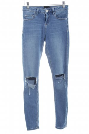 Asos Petite Skinny Jeans blau Casual-Look