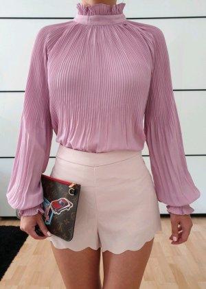 Asos Plissee Bluse XS S 32 34 36 lila rosa Shirt Hemd Longshirt Oberteil Tunika Top Neu