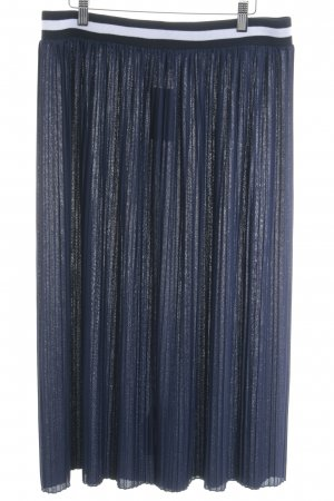 Asos Pleated Skirt dark blue-white casual look