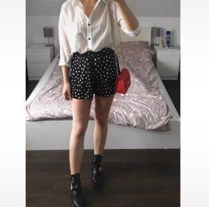Asos High waist short zwart-wit