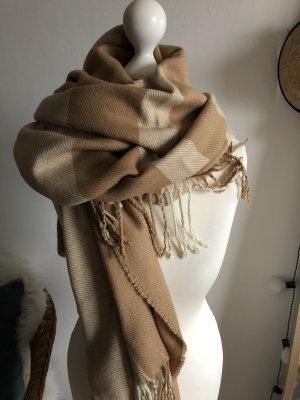 Asos Poncho Onesize Oversized Schal Pullover Weste Strickjacke beige cognac camel