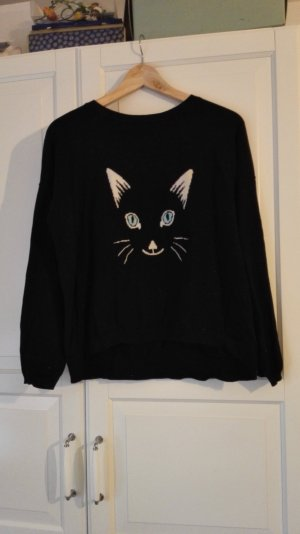 ASOS pullover schwarz katze größe 36