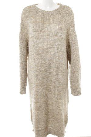 Asos Sweater Dress cream-light brown flecked street-fashion look