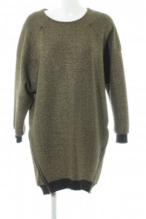 Asos Sweater Dress black-gold-colored glittery