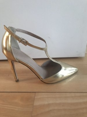 Asos Strapped pumps gold-colored