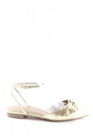 Asos Strapped Sandals gold-colored extravagant style