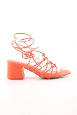 Asos Riemchen-Sandaletten neonorange Casual-Look