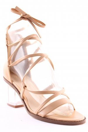 Asos Strapped High-Heeled Sandals nude casual look