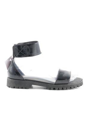 Asos Riemchen-Sandaletten schwarz Street-Fashion-Look