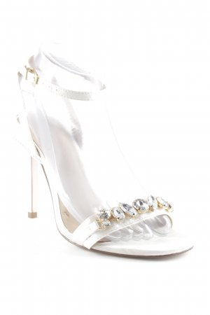 Asos Strapped High-Heeled Sandals white casual look