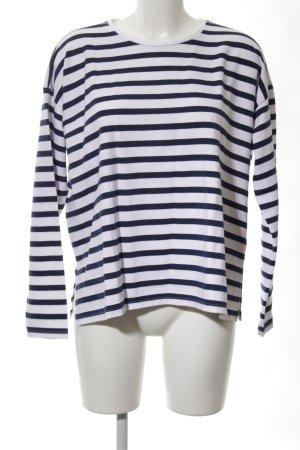 Asos Gestreept shirt wit-blauw gestreept patroon casual uitstraling