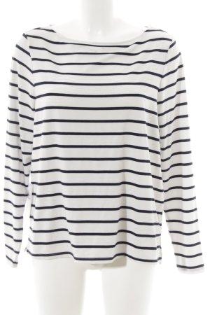 Asos T-shirt rayé blanc-bleu foncé motif rayé style marin