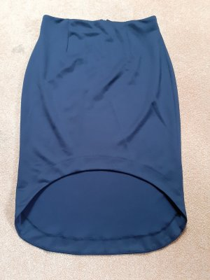 Asos Falda asimétrica azul oscuro