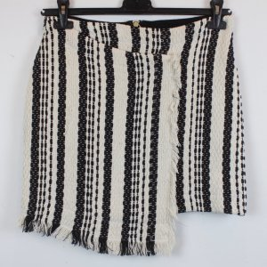 Asos Falda cruzada negro-beige claro Algodón