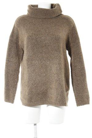 Asos Turtleneck Sweater light brown flecked casual look