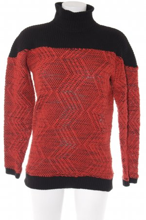 Asos Rollkragenpullover rot-schwarz Street-Fashion-Look