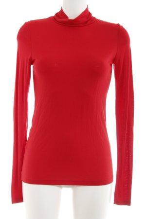 Asos Turtleneck Shirt red simple style