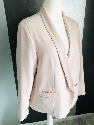 asos curve Short Blazer pink