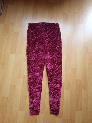 Asos Rote Samt Leggings