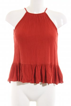 Asos Top a balze rosso stile casual