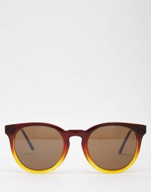 ASOS Runde Sonnenbrille mit Metallbügeln braun/hellbraun le specs acetate