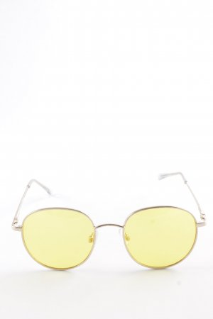 Asos Round Sunglasses rose-gold-coloured-yellow '70s style