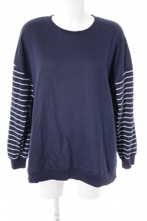 Asos Crewneck Sweater blue-white striped pattern casual look