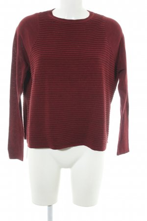 Asos Crewneck Sweater bordeaux casual look