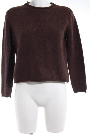 Asos Kraagloze sweater bruin casual uitstraling