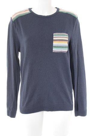 Asos Crewneck Sweater dark blue casual look