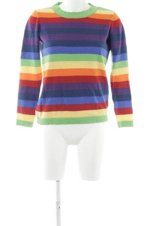Asos Kraagloze sweater regenboog patroon straat-mode uitstraling