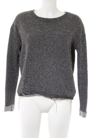 Asos Rundhalspullover schwarz-weiß minimalistischer Stil
