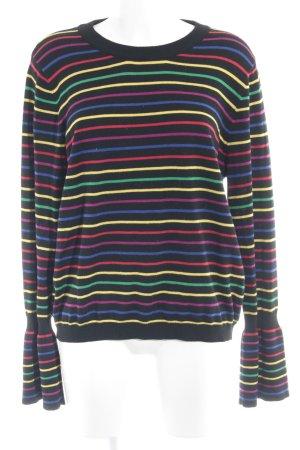 Asos Crewneck Sweater striped pattern casual look