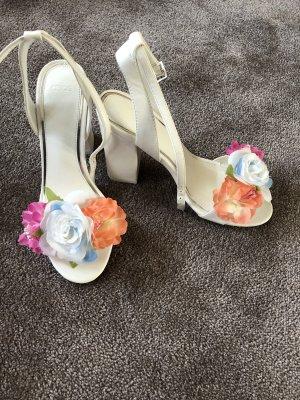 Asos High-Heeled Sandals white