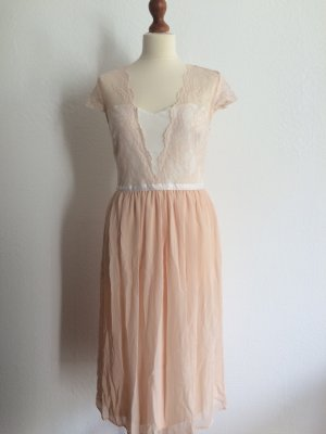 Asos Scallop Lace Midi Dress