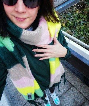 Asos Schal Oversize Scarf Neon Pastell Fransen