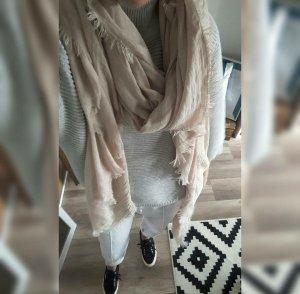 Asos Schal Scarf Shawl Nude Fransen weich Oversize